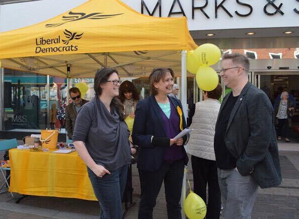 Judith Bunting meeting local residents in Northbrook Street