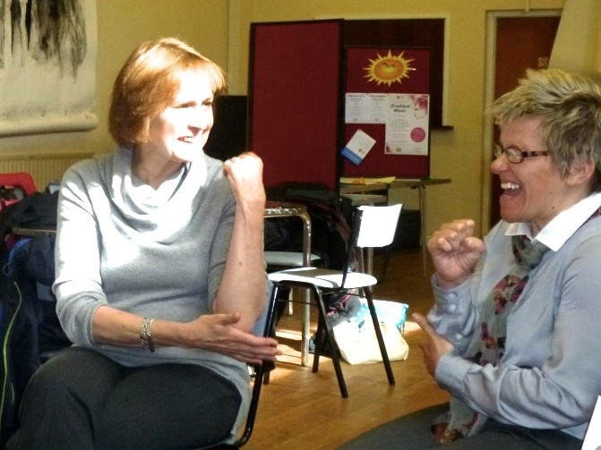 Judith Bunting at Newbury Friendships Skills group